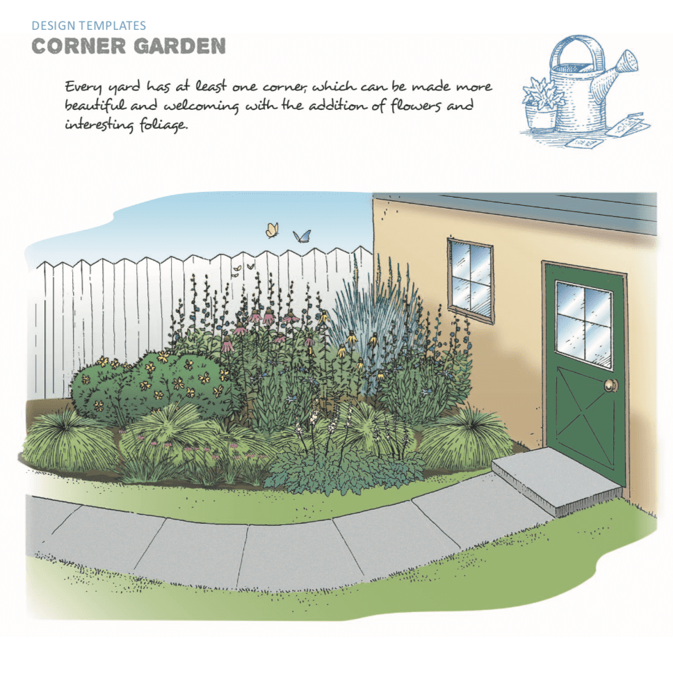 The Corner Garden Design Is One Of The Templates Offered In Native Plants  For The Small Yard.